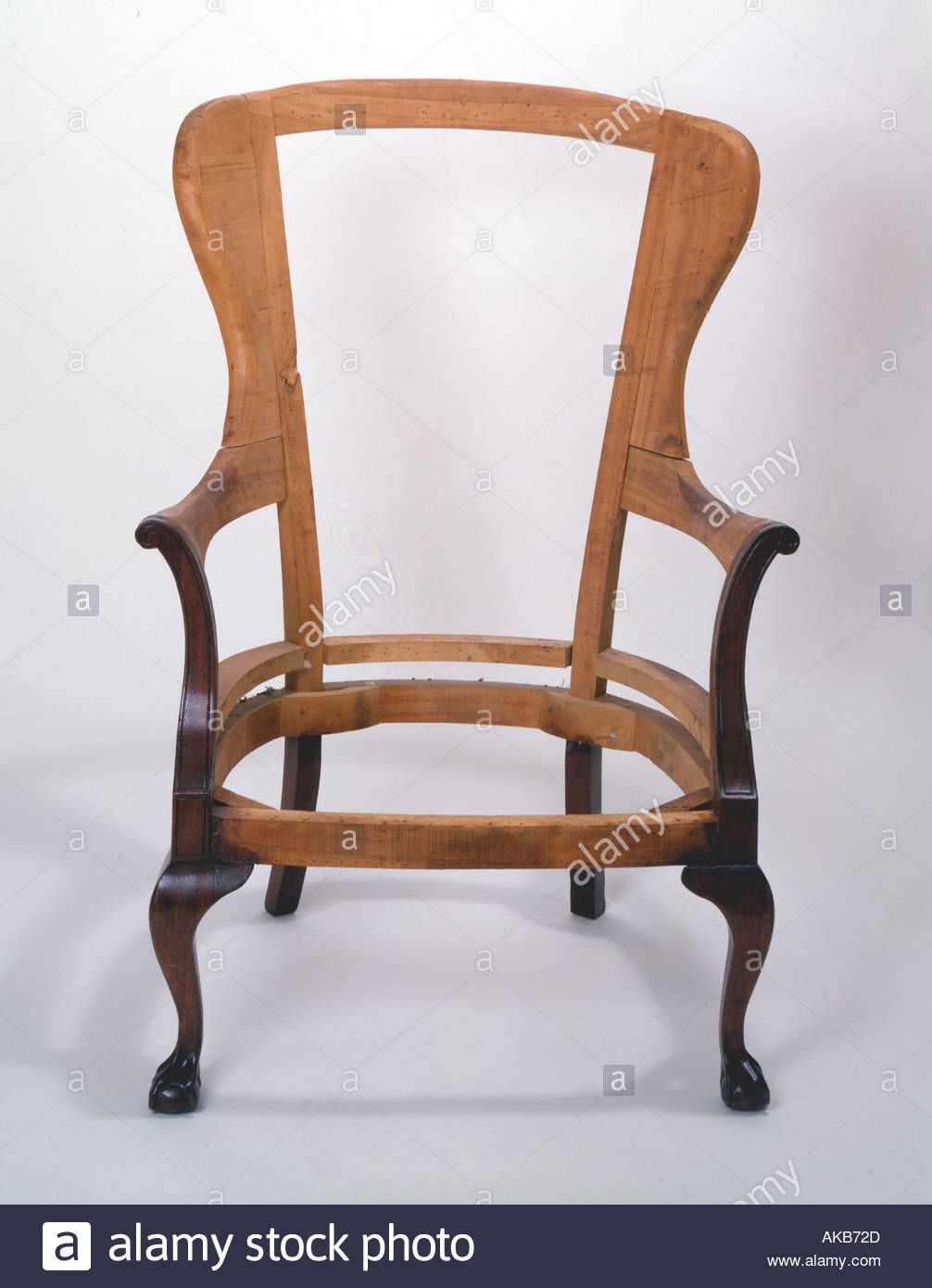 handmade wooden chairs swing chair covers argos frame stock photo 1292076 alamy