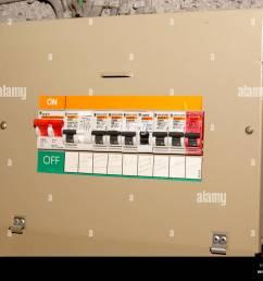 domestic fuse box circuit breaker stock image [ 1300 x 1037 Pixel ]