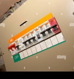 domestic fuse box circuit breaker stock image [ 1300 x 953 Pixel ]