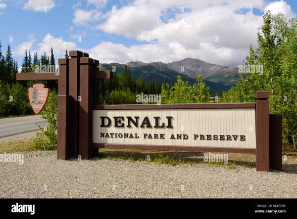 Denali Entrance Sign Stock & - Alamy