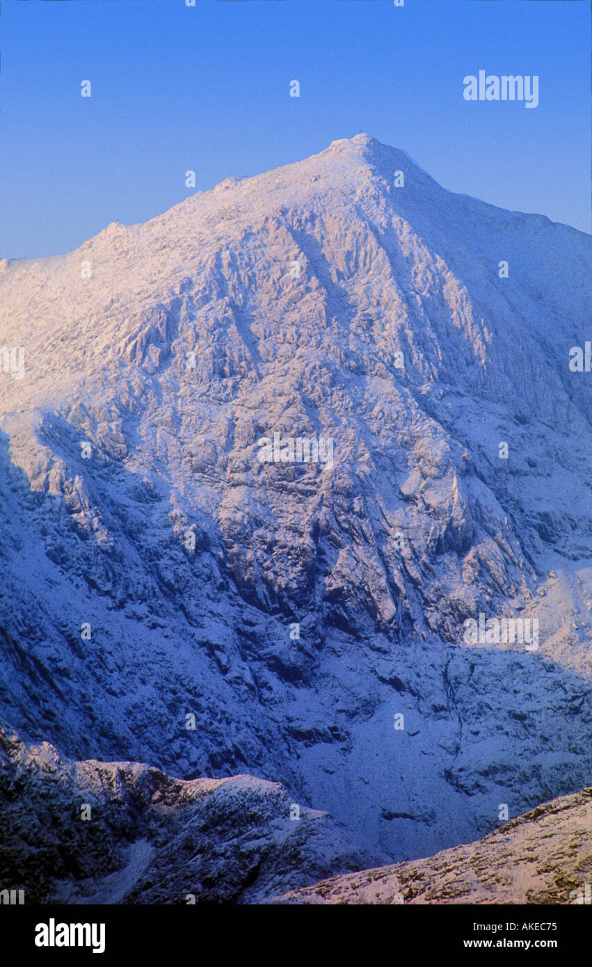 Snowdon Peak : snowdon, Mount, Snowdon, Wintertime, Snowdonia, National, North, Wales, Stock, Photo, Alamy
