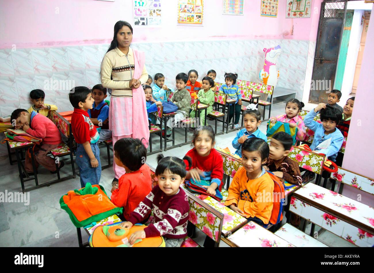 India Play School Nursery School Stock Photo