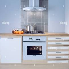Extractor Fan Kitchen Calculator Above White Oven In Modern