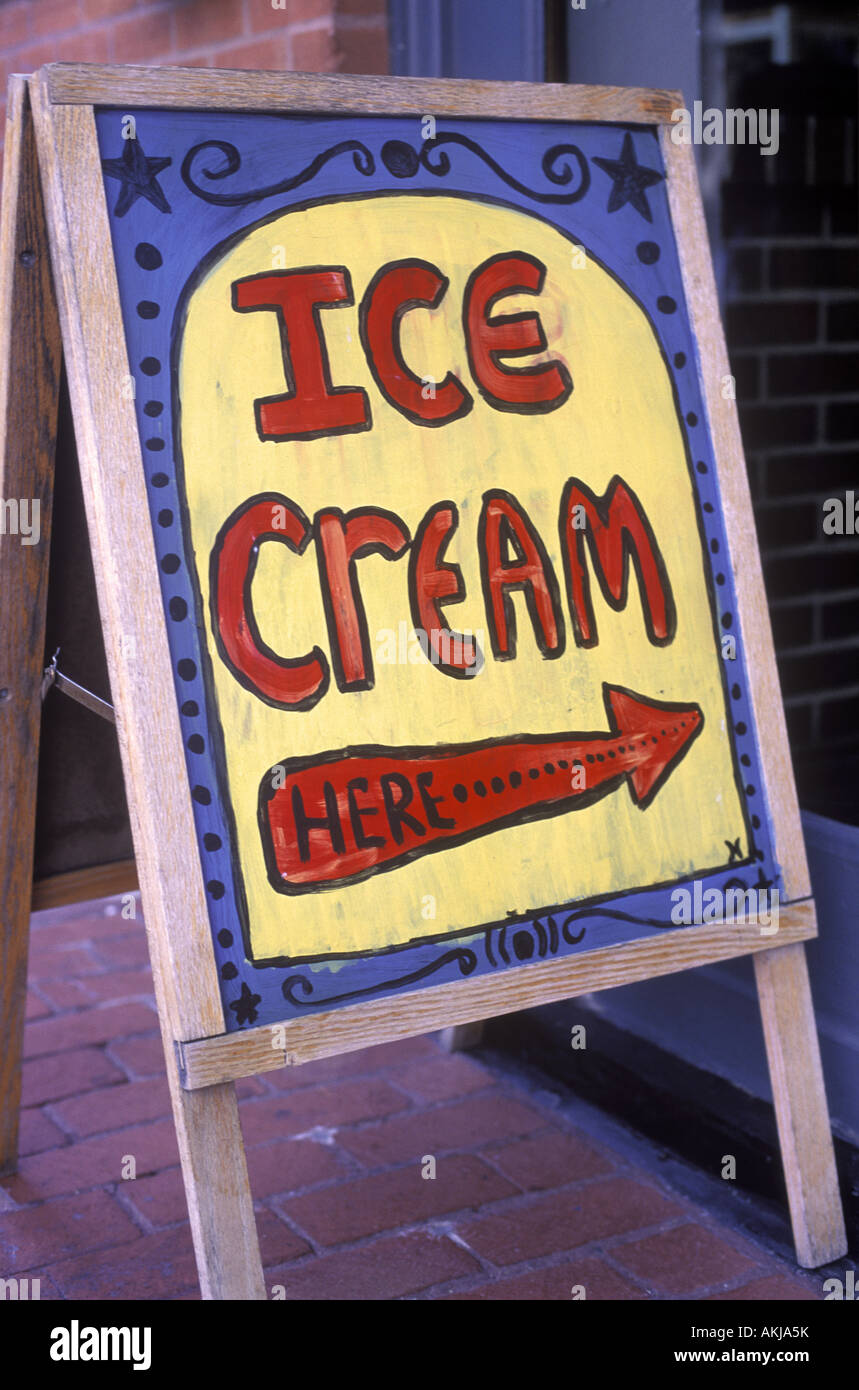 ice cream sign outside