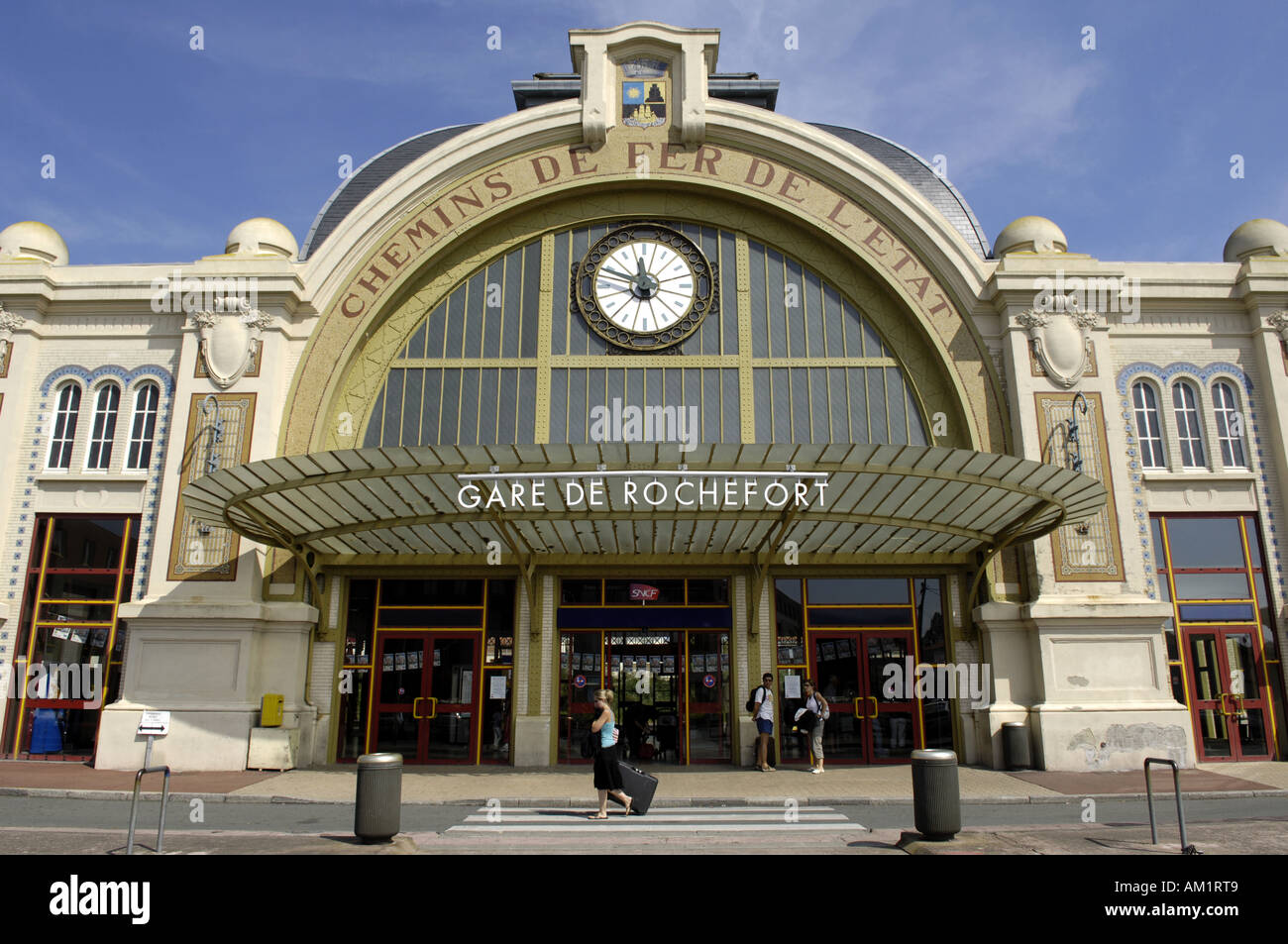 Gare De Rochefort Charente Maritime Region France French Train Stock Photo, Royalty Free Image