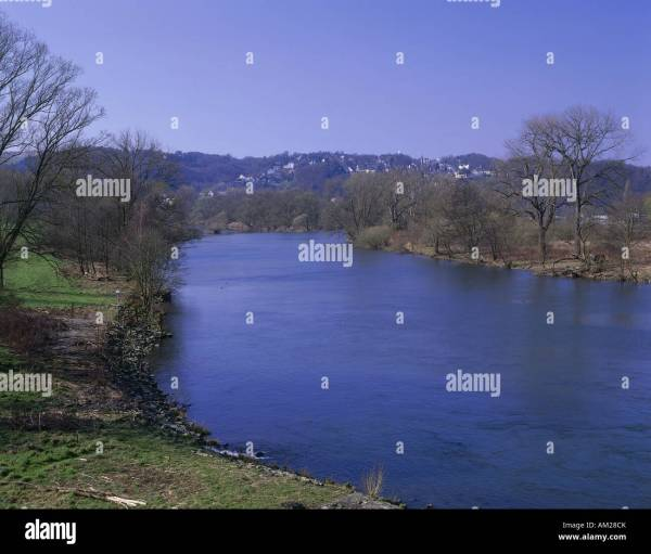 river ruhr wetter germany stock