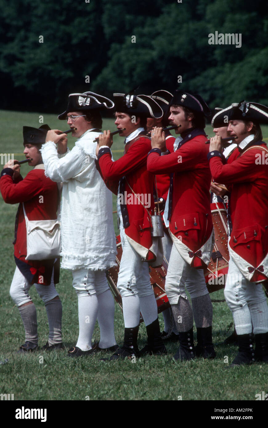 A revolutionary War re-enactment Stock Photo: 15127098 - Alamy
