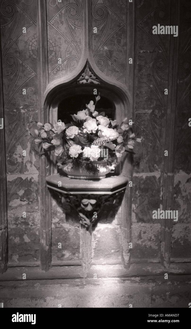 gothic niche flowers in