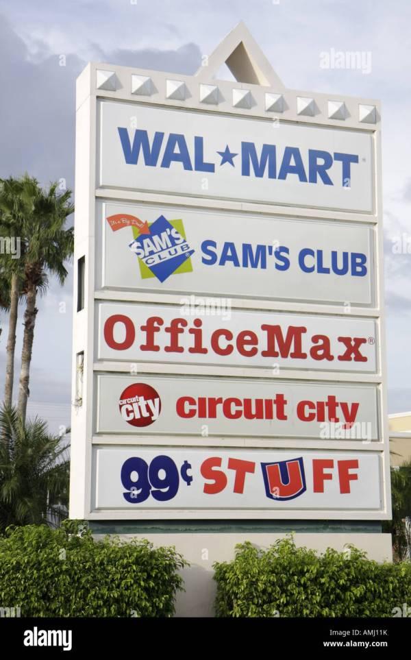 Miami Florida Shopping Center Sign Sam' Club
