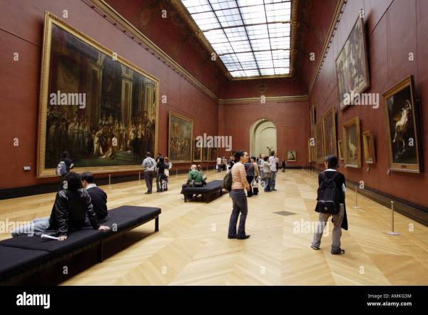 France Paris Louvre Museum Room Stock & - Alamy