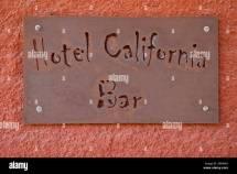 Sign Bar Of Famous Hotel California Todos Santos