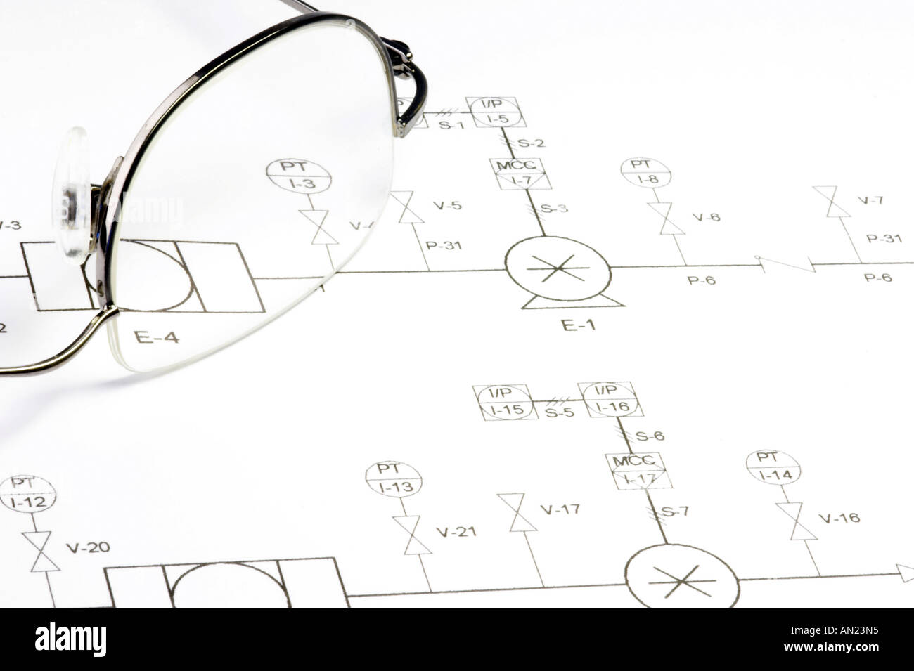 hight resolution of schematic circuit diagram and glasses stock image