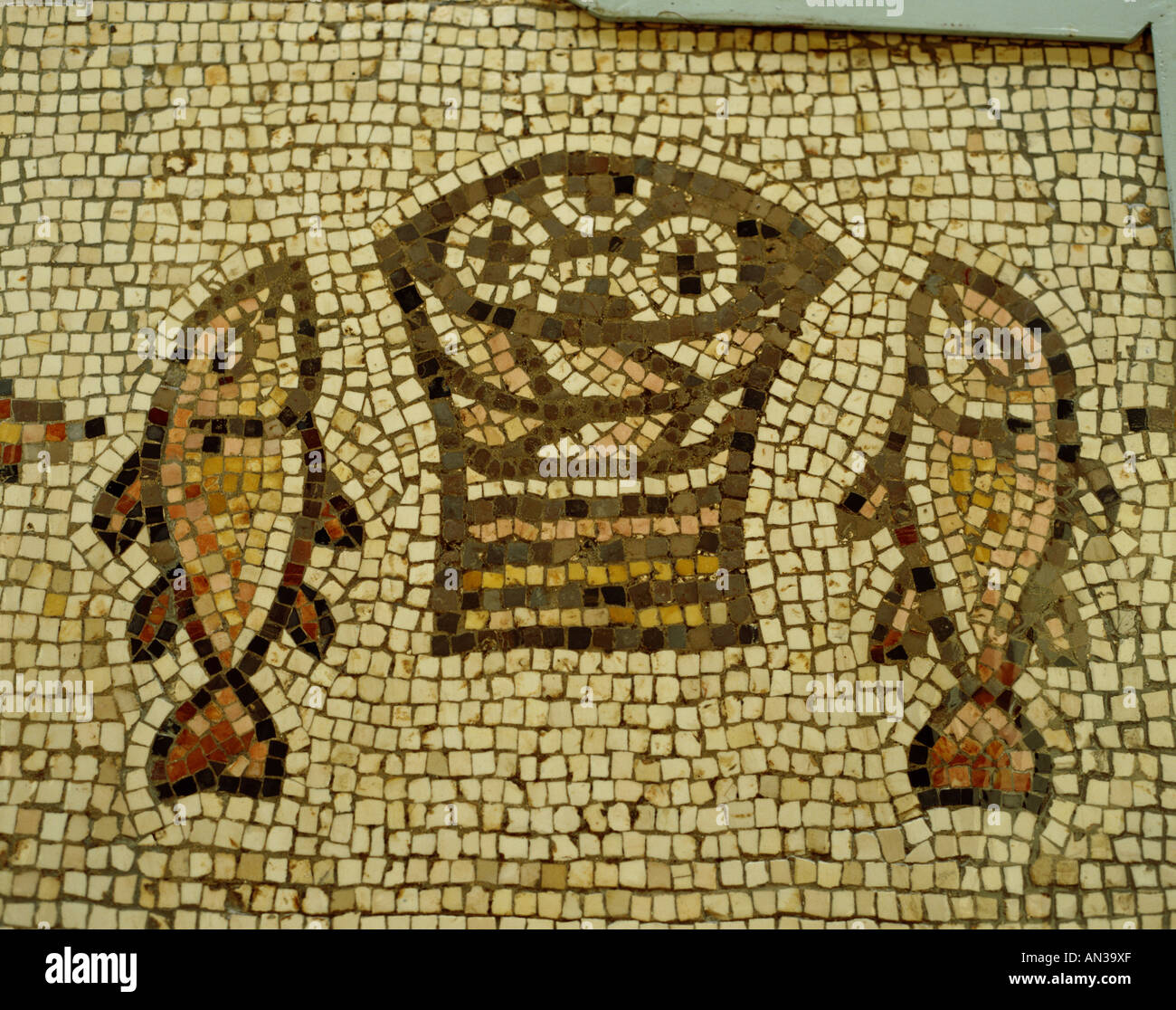 Church Of The Multiplication Mosaic Of The Loaves And