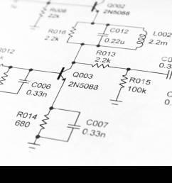 close up of electronics schematic diagram [ 1300 x 956 Pixel ]