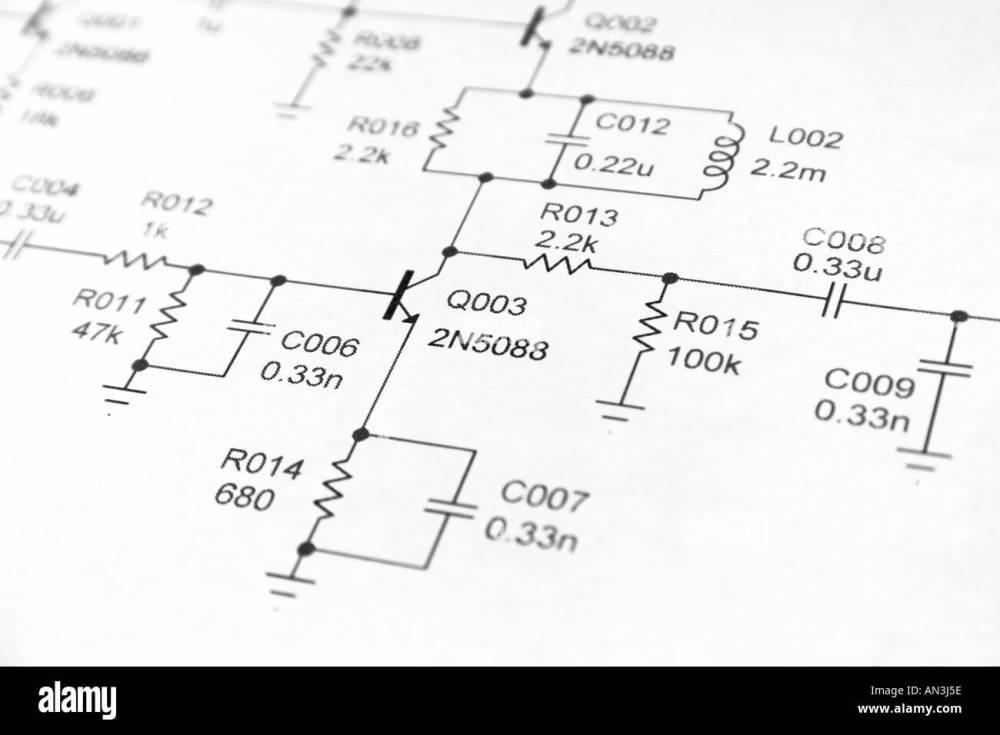 medium resolution of close up of electronics schematic diagram