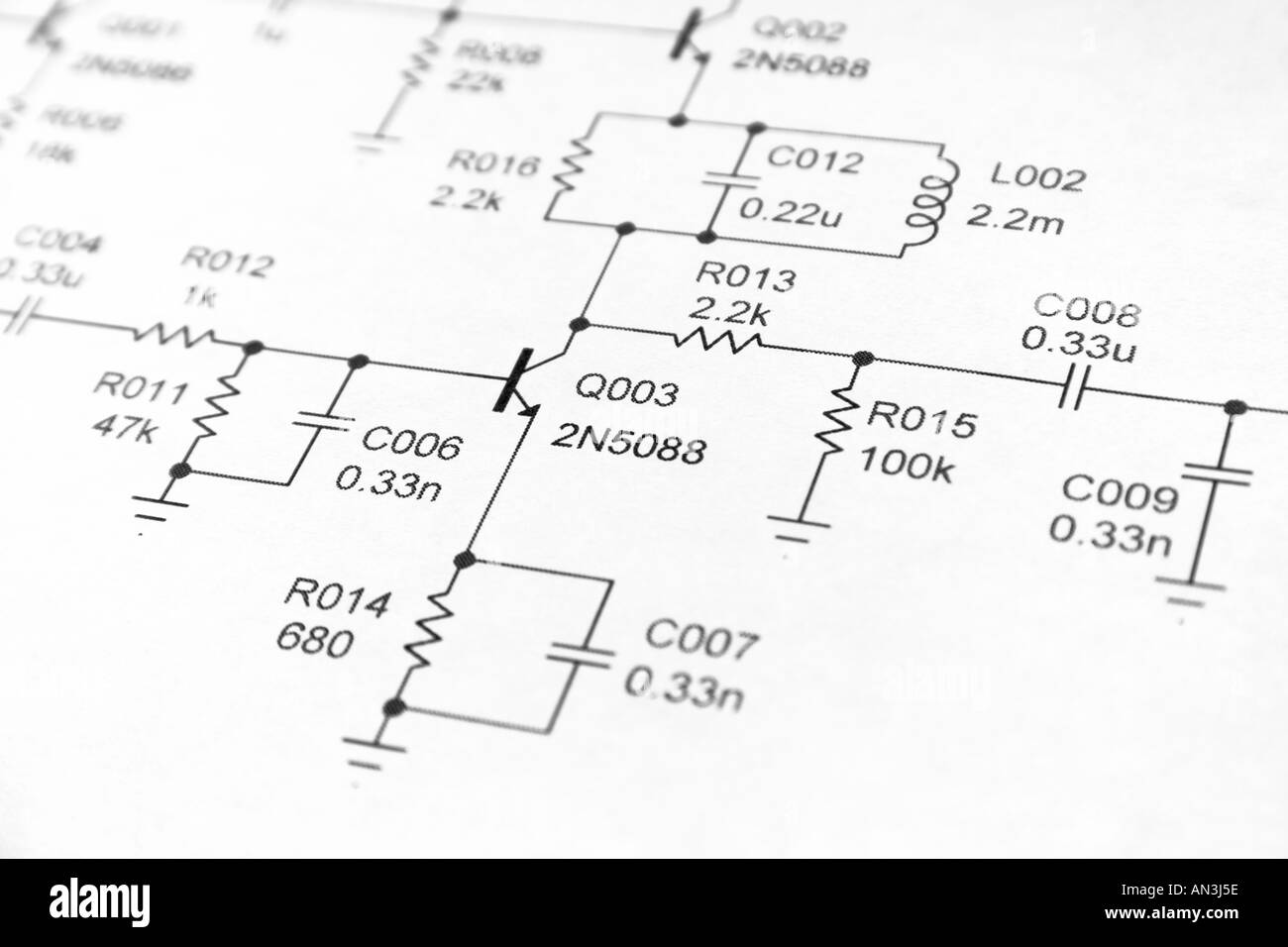 hight resolution of close up of electronics schematic diagram