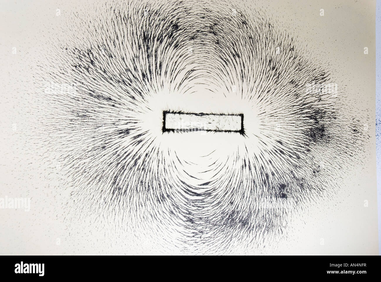 Magnetic Field Lines Around A Bar Magnet Shown With Iron