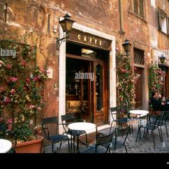 8 Chair Square Dining Table Swing Dedon A Small Courtyard Cafe In Piazza Santa Maria Della Pace Rome Stock Photo: 8824798 - Alamy