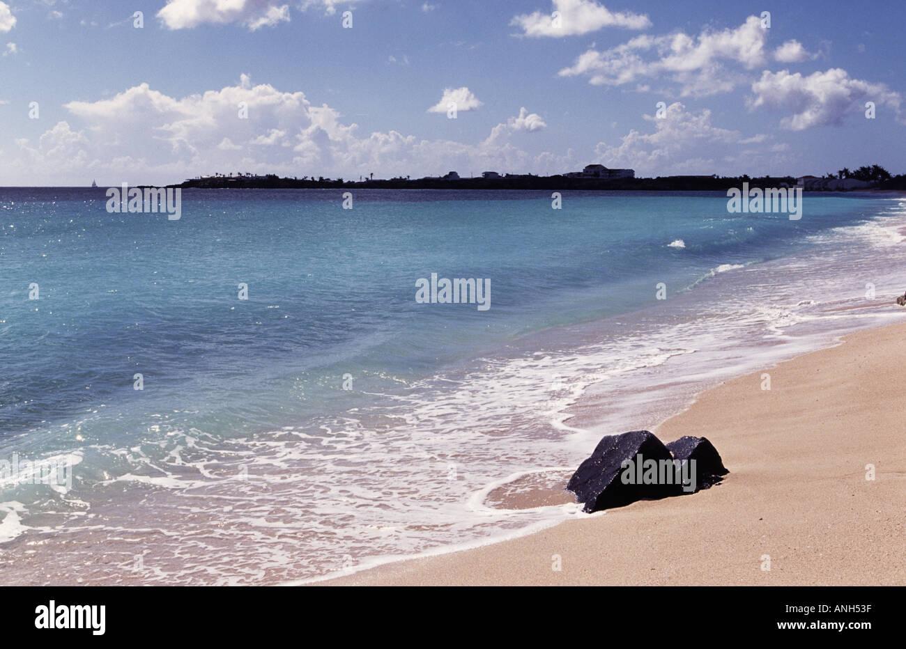 st maarten beach sea