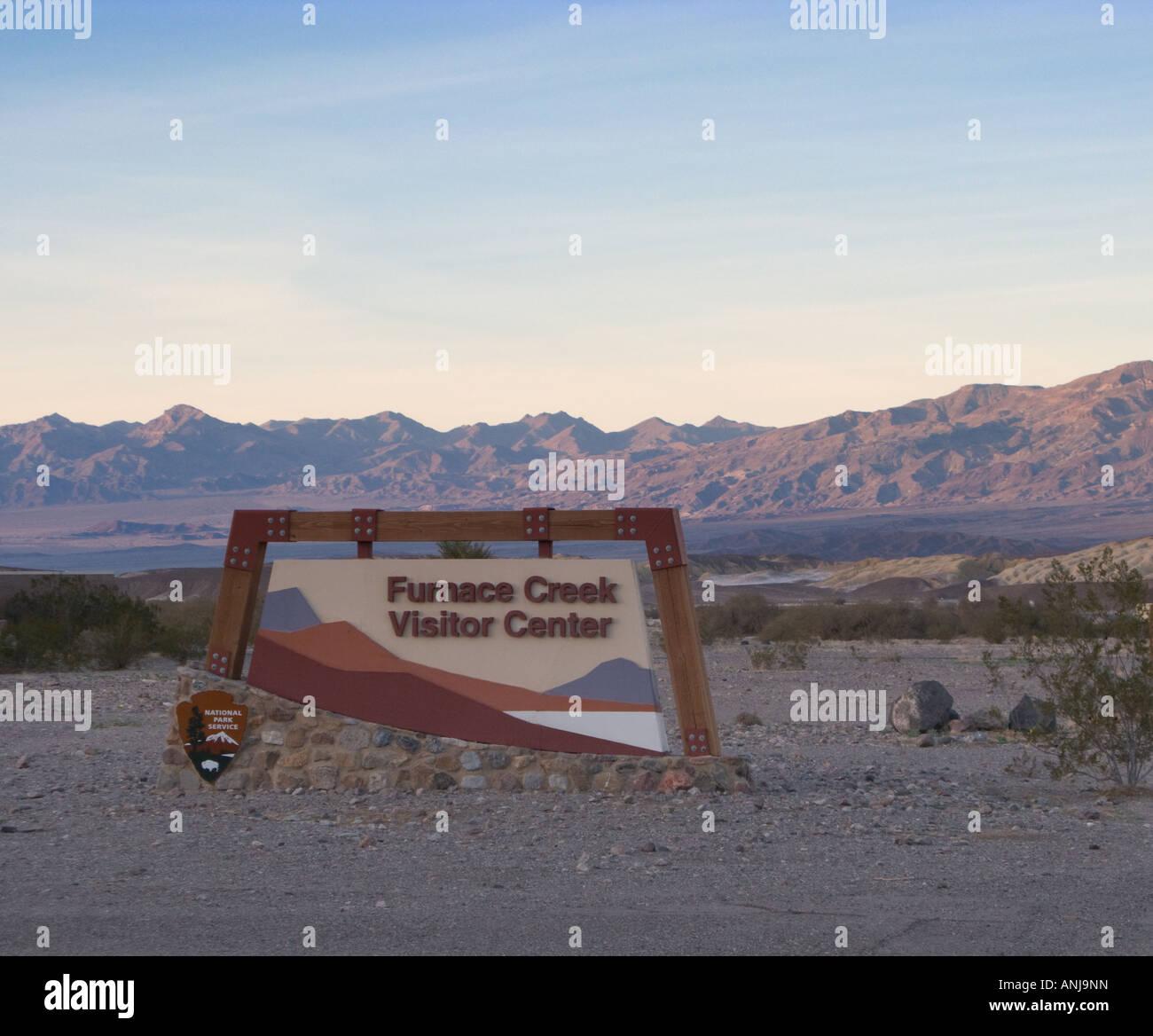 Furnace Creek Visitor Center Sign, Death Valley National