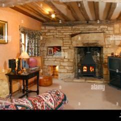 Traditional Style Living Room Corner Shelf Units Uk Property House Interior Stock