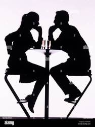 silhouette sitting bar couple table stools drinks shopping alamy log cart