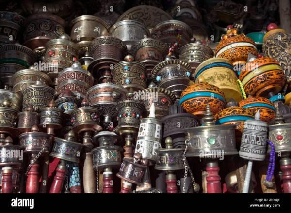 Souvenir Lhasa Tibet Stock &