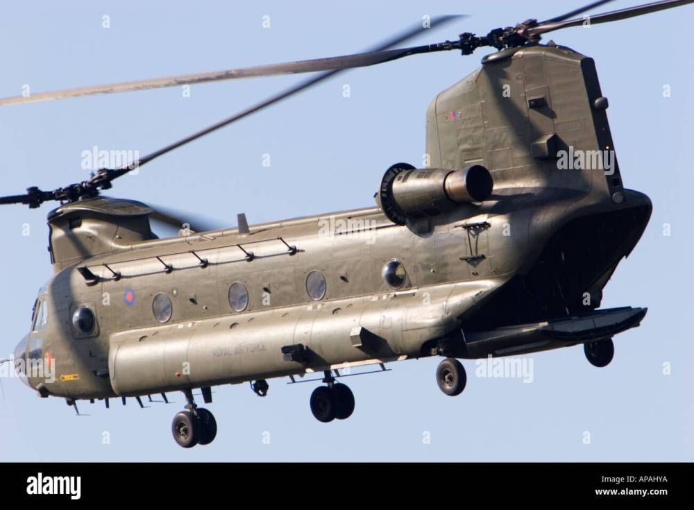 medium resolution of raf chinook hc2 helicopter 18 squadron rear loading door open stock image