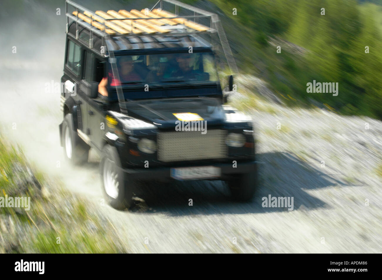 hight resolution of land rover defender 110 station wagon roofrack stock image