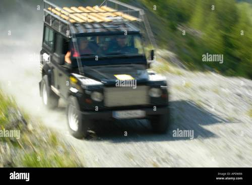 small resolution of land rover defender 110 station wagon roofrack stock image