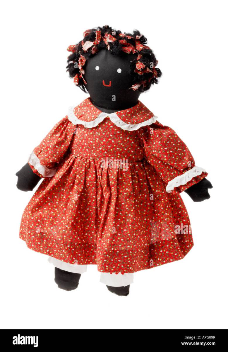 Handmade Antique Mammy Doll Stock Photo - Alamy