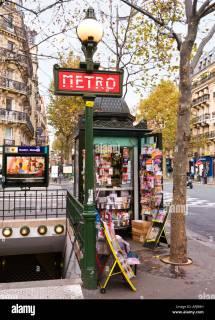 Entrance Paris Metro Station Place Monge