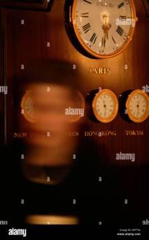 Time Zone Clocks Stock &