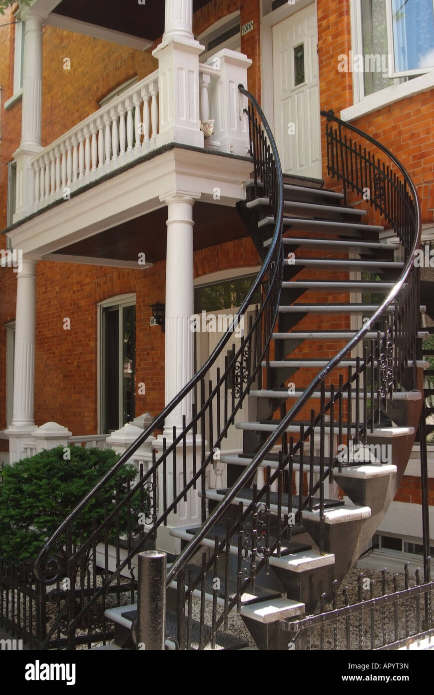 Canada Quebec Montreal Exterior Staircase To The Second Floor Made | Outside Stairs To Second Floor | Steel | Entrance | Staircase | Patio | Deck