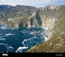 Slieve League Cliffs Sea 300m High County Donegal