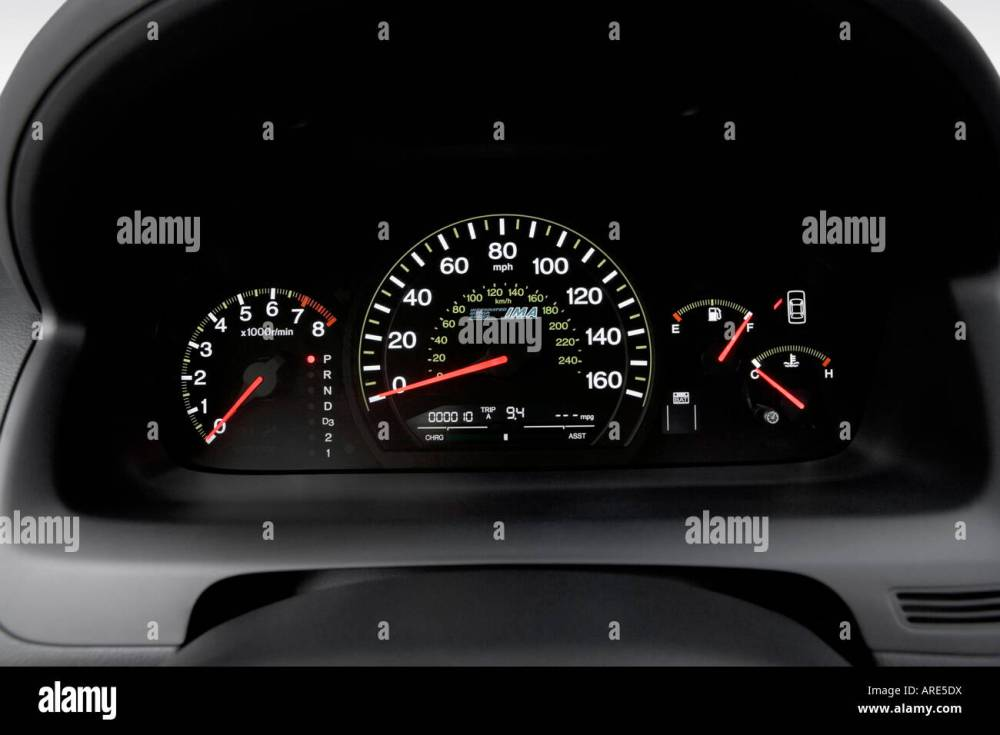 medium resolution of 2006 honda accord hybrid in silver speedometer tachometer