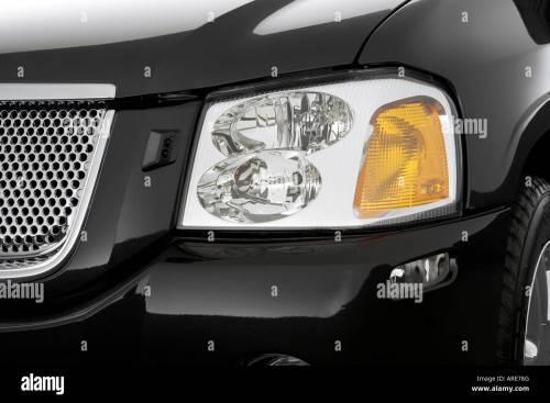 small resolution of 2006 gmc envoy denali in gray headlight stock image