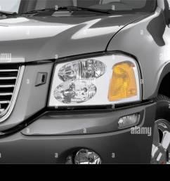 2006 gmc envoy slt in gray headlight [ 1300 x 956 Pixel ]