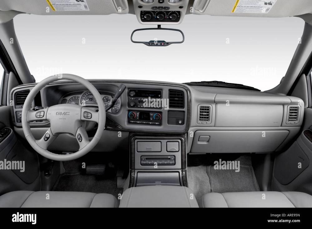 medium resolution of 2006 gmc yukon xl 1500 denali in black dashboard center console gear shifter view