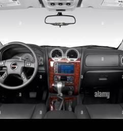 2006 gmc envoy xl slt in black dashboard center console gear shifter view [ 1300 x 956 Pixel ]