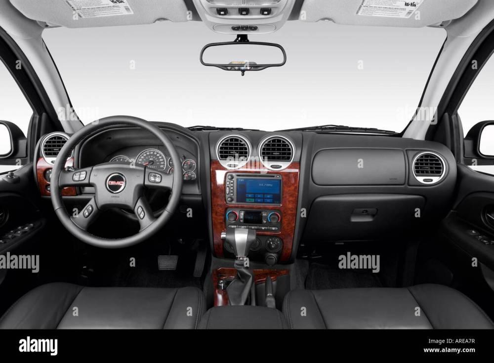 medium resolution of 2006 gmc envoy xl slt in black dashboard center console gear shifter view