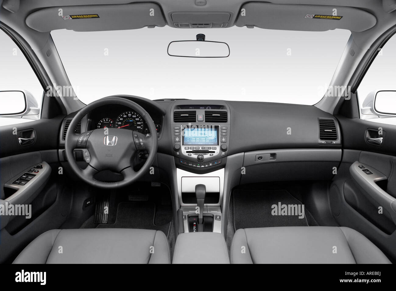 hight resolution of 2006 honda accord hybrid in silver dashboard center console gear shifter view