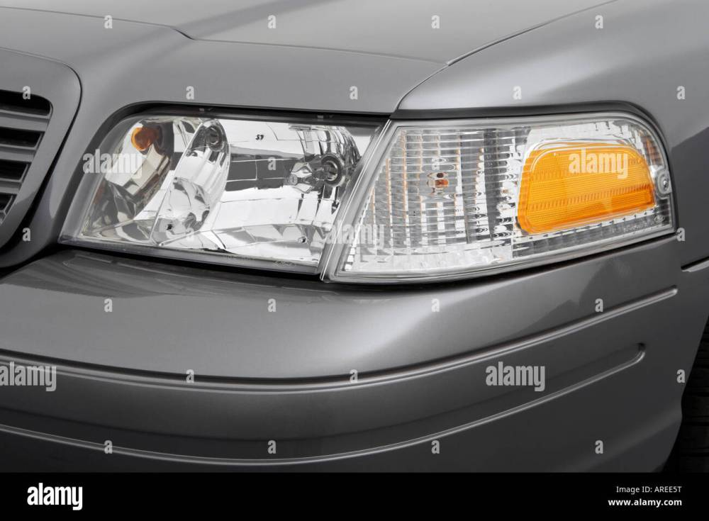 medium resolution of 2006 ford crown victoria lx sport in gray headlight stock image
