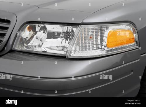 small resolution of 2006 ford crown victoria lx sport in gray headlight stock image