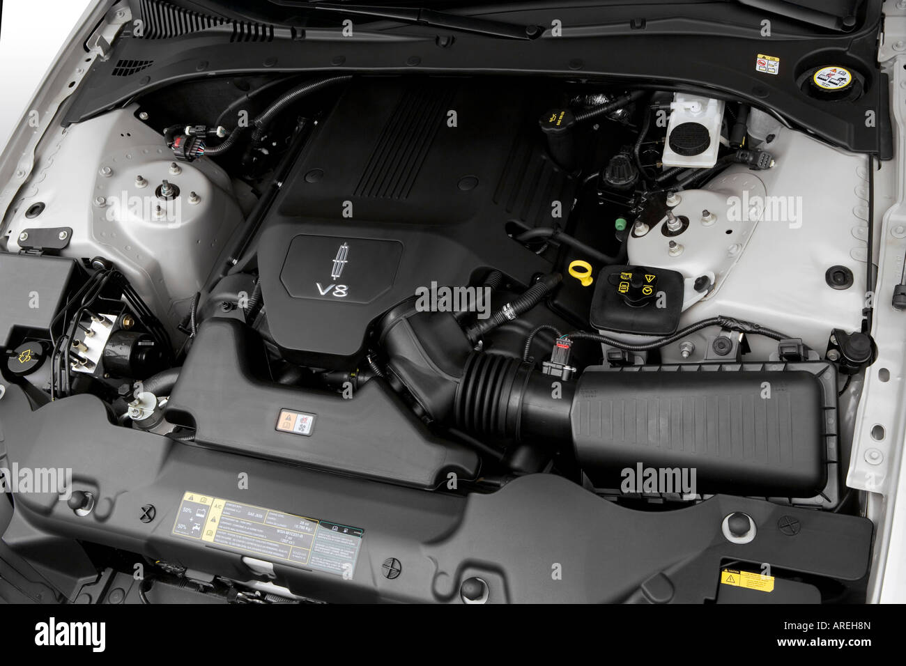 Ford 3 Valve Engine Diagram 2006 Lincoln Ls V8 Sport In Silver Engine Stock Photo