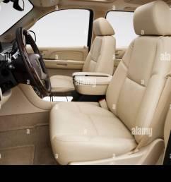 2007 cadillac escalade esv in black front seats stock image [ 1300 x 956 Pixel ]