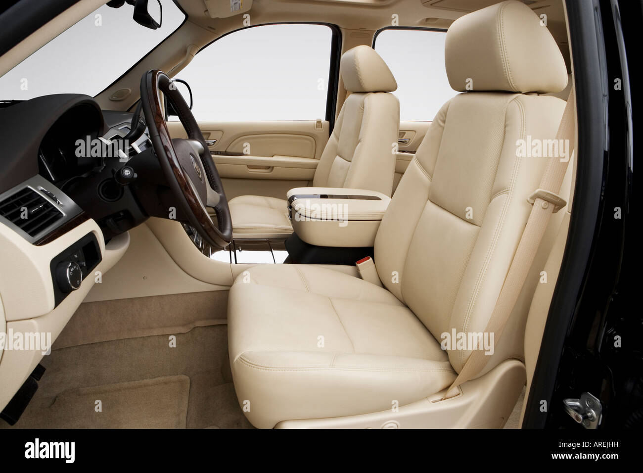 hight resolution of 2007 cadillac escalade esv in black front seats stock image