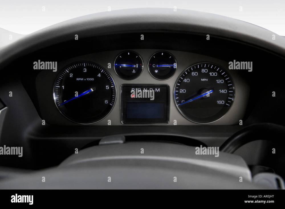 medium resolution of 2007 cadillac escalade esv in black speedometer tachometer stock image