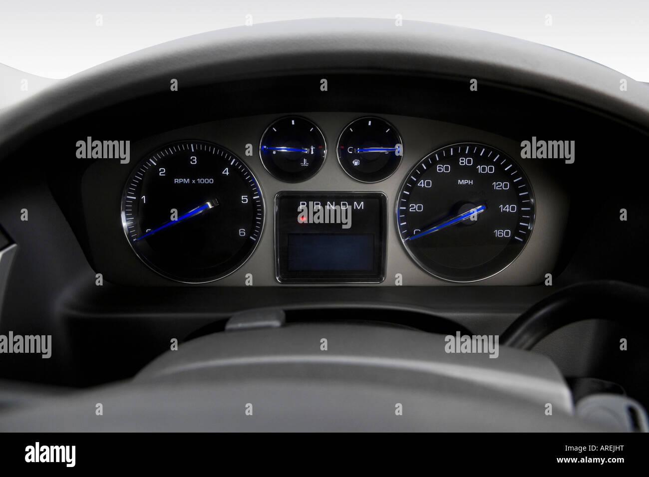 hight resolution of 2007 cadillac escalade esv in black speedometer tachometer stock image