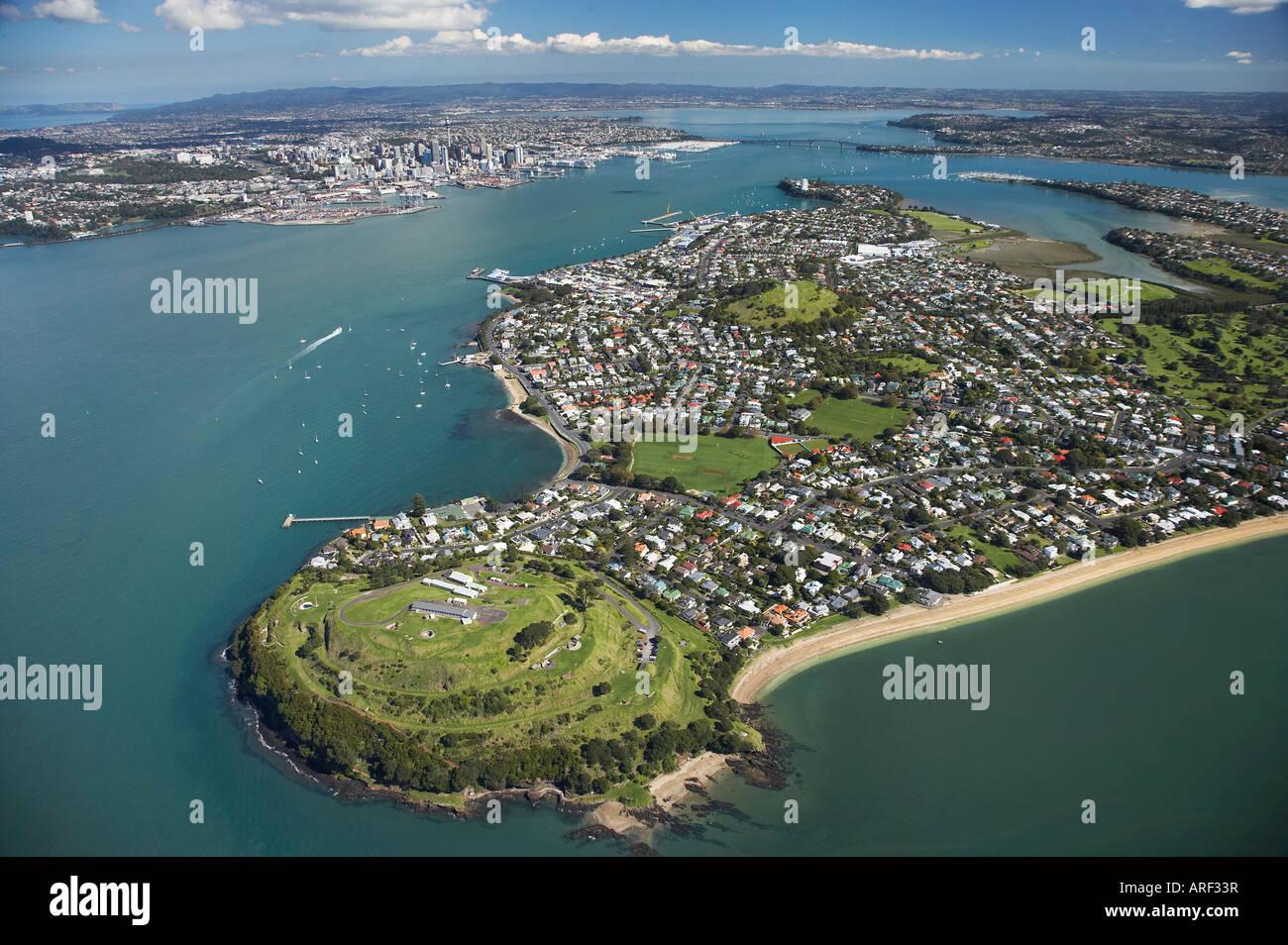 North Head Devonport Auckland North Island New Zealand Aerial Stock Photo - Alamy